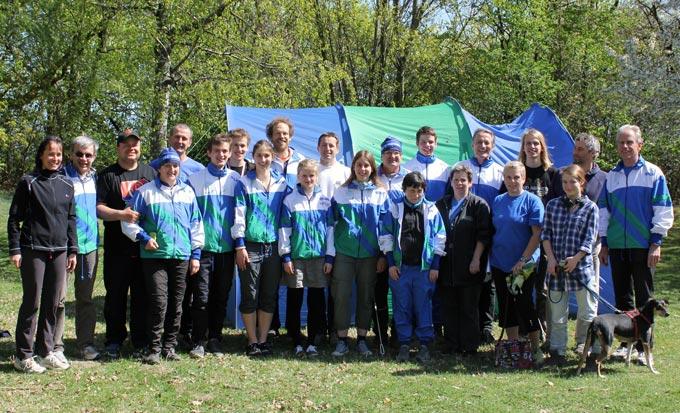 Mitarbeiter bei der Wiener Meisterschaft im Sprint-Orientierungslauf 2011
